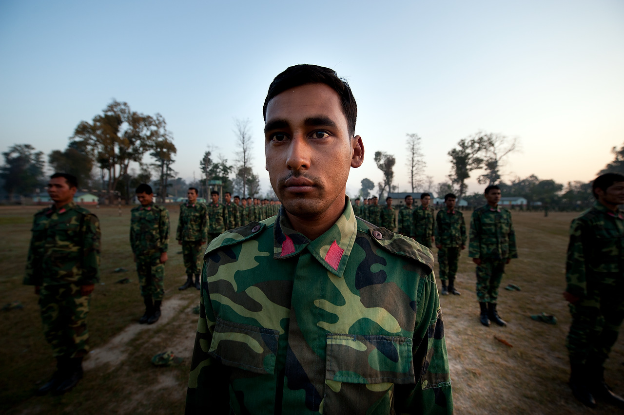 According to UNMIN, the PLA has around 19,600 confirmed fighters residing in different cantonments over the past 6 years. The ones who were found to be unqualified during the verification process have been removed from the cantonments recently under an agreement of UNMIN (United Nations Mission in Nepal) peronnel, the Nepalese government and the Nepal communist party (Maoists).