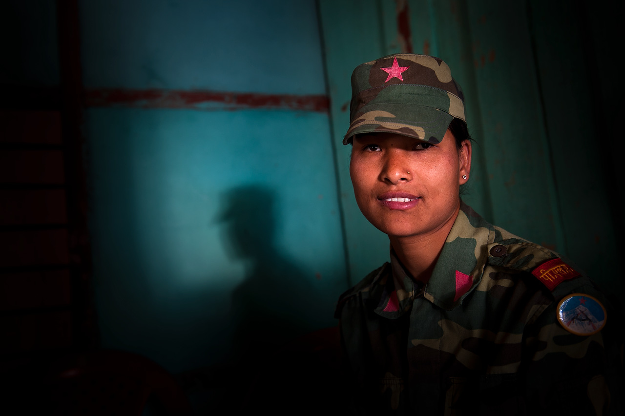 A female PLA fighter Kalpana Thapa {quote} Shirjana{quote} was 19 when she joined Maoist guerrilla.
