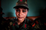A female PLA fighter Laxmi Air was 15 years old when she joined Maoist rebels. Now with 21 she hopes to be integrated into Nepal Army.