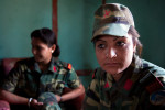 A female PLA fighter Rekha Dhami was 14 years of age when she joined the Maoist guerrilla.