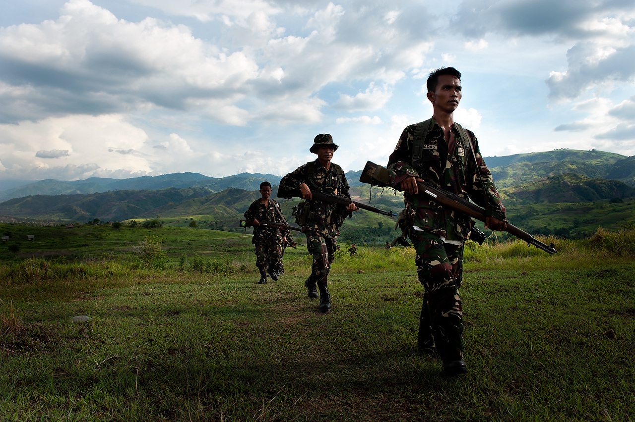 CAFGU member operate in the borderline villages in vicinity of the MILF rebels territory.