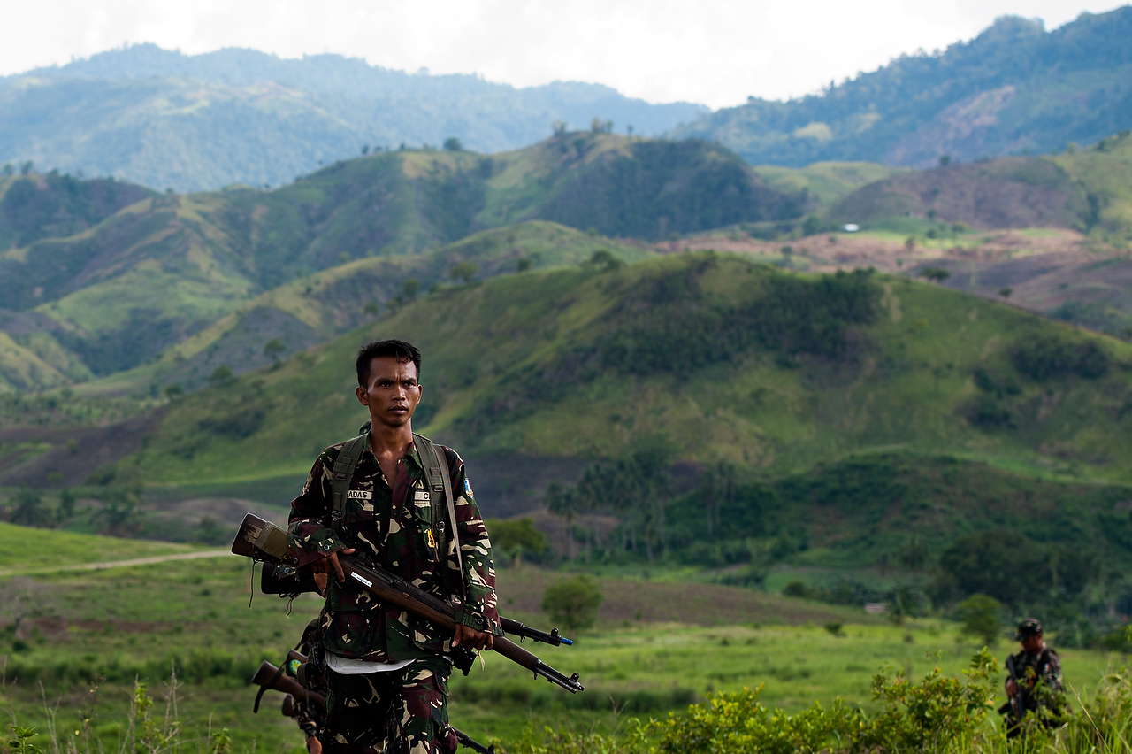 CAFGU paramilitary operate in vicinity of MILF rebel held territory. Often there is exchange of fire as patrols run into each other.