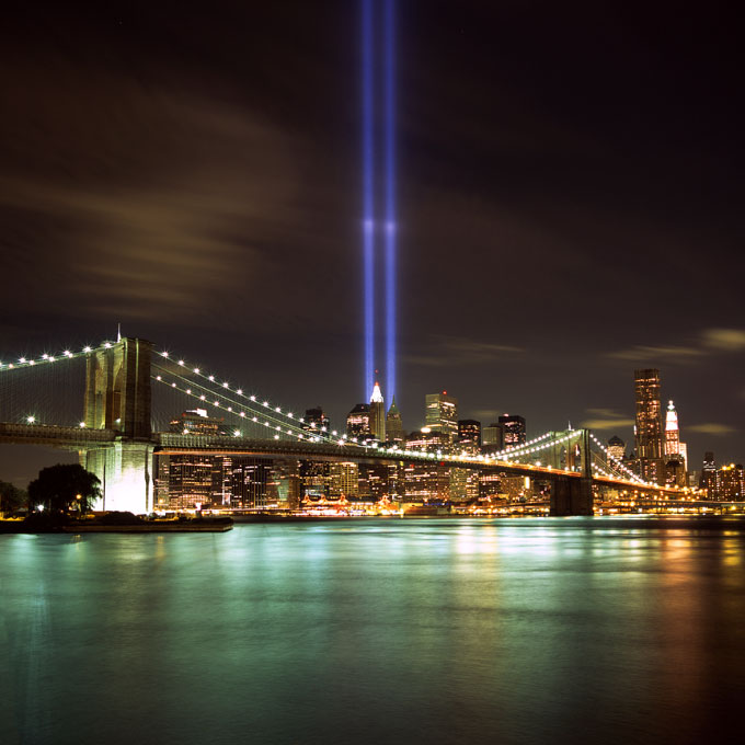 Brooklyn Bridge & Tribute Light #1Brooklyn, NYSeptember 11, 2010