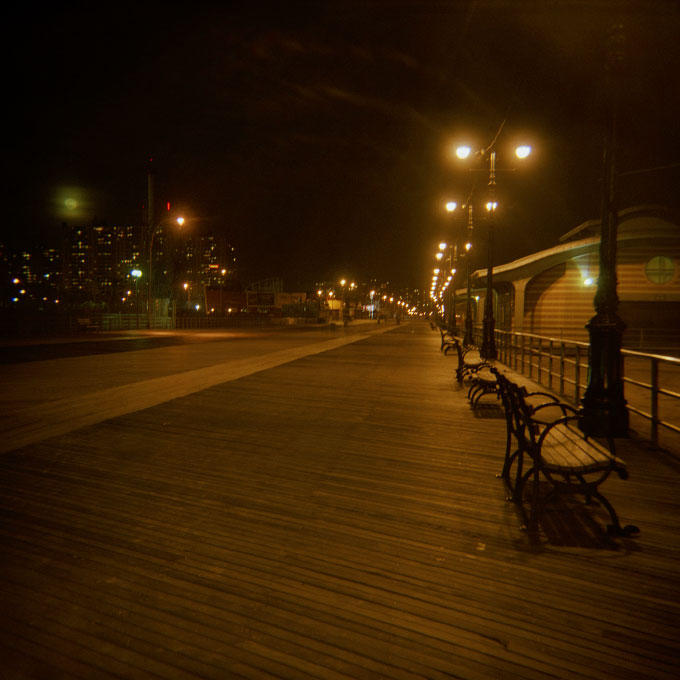 Boardwalk by Night-1Coney Island, Brooklyn, NY 2007