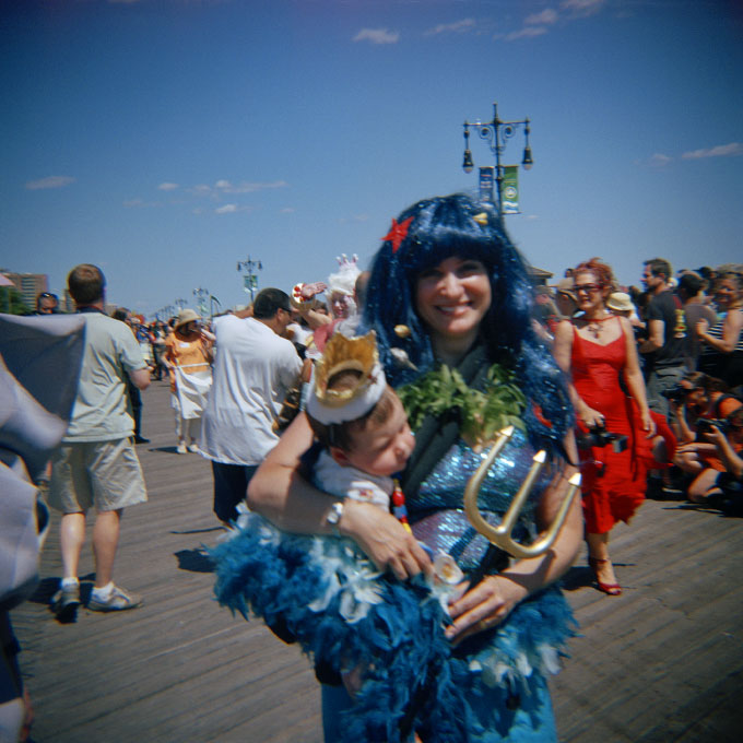 Mermaid Mom and King BabyConey Island, Brooklyn, NY 2007