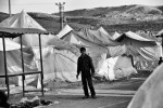 A Syrian refugee inside a refugee camp in Reyhanli, Turkey. March 2012.