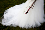 A bride's dress at Westover Plantation