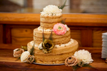 A lovely Momofuku Milk Bar wedding cake at The Local in the Belmont neighborhood in Charlottesville, VA