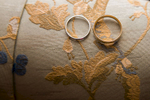 A bride and grooms ring on beautiful fabric during a The Jefferson Hotel wedding in Richmond, VA