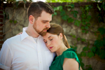 Engagement portraits of a bride and groom before their wedding in Richmond, VA