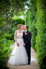 A bride and groom kiss at Westover Plantation in Charles City, VA