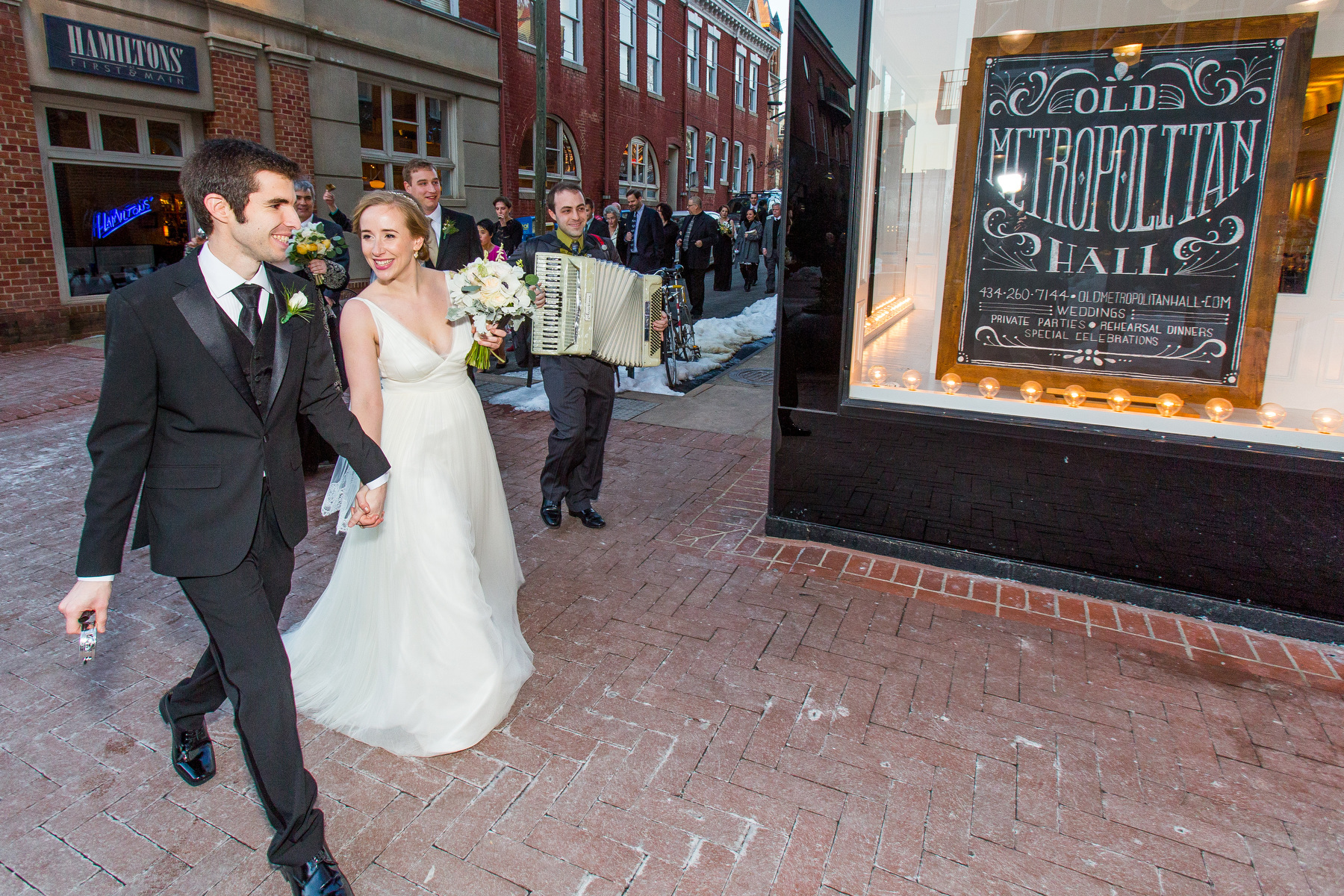 Wedding Photos from Old Metropolitan Hall and The Haven in  Charlottesville VA