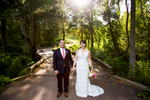 A bride and groom pose for wedding portraits at The Piedmont Club in Haymarket, VA