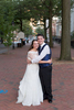 A bride and groom after their wedding ceremony at The Valentine Museum in Richmond, VA