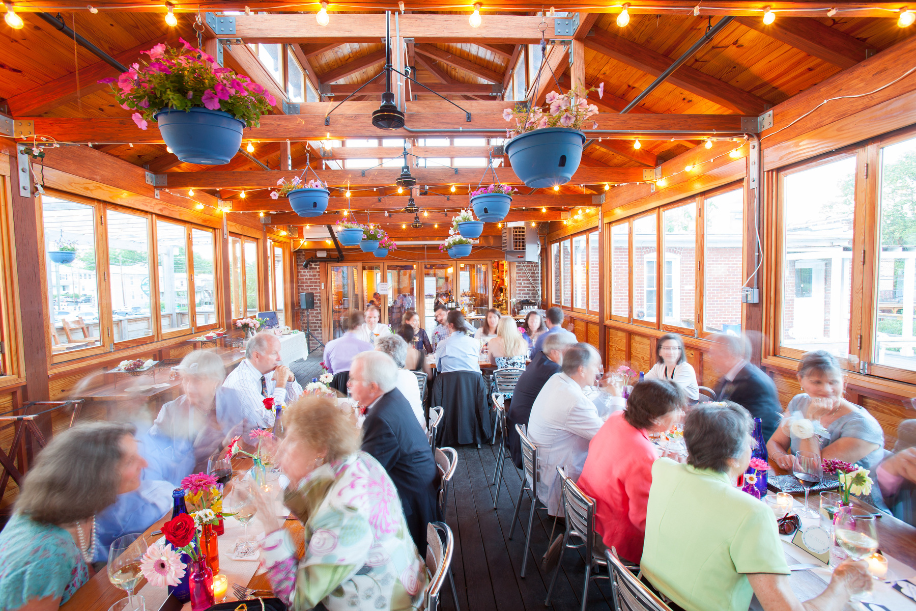 The Local, a Charlottesville restaurant, hosts a wedding reception.