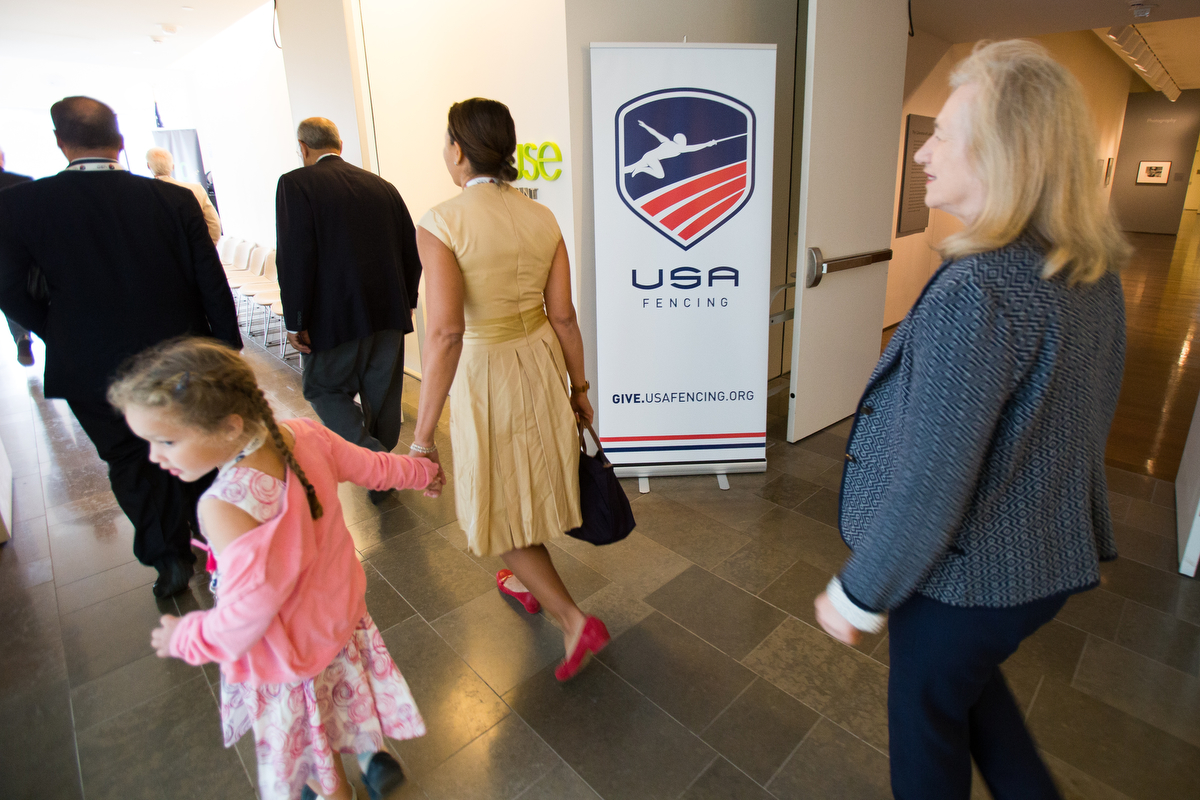 Cultivation Event for supporters / donors on Saturday evening at VMFA. USA Fencing.