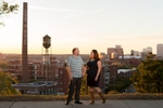 Alicia Bedes and Jason. Engagement portraits.