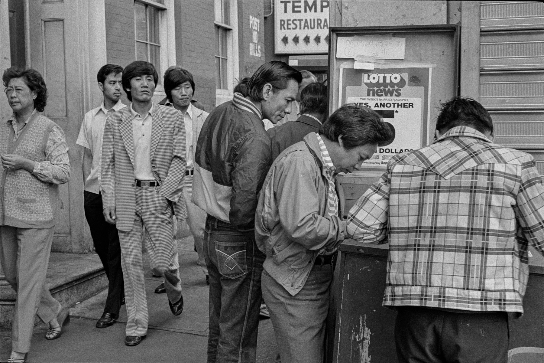 In front of 18 Bowery, New York Chinatown, 1982.