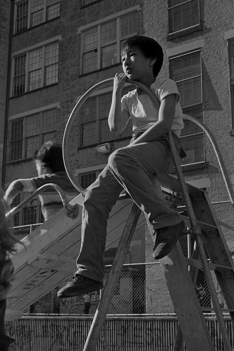 PS 1 playground, New York Chinatown, 1982