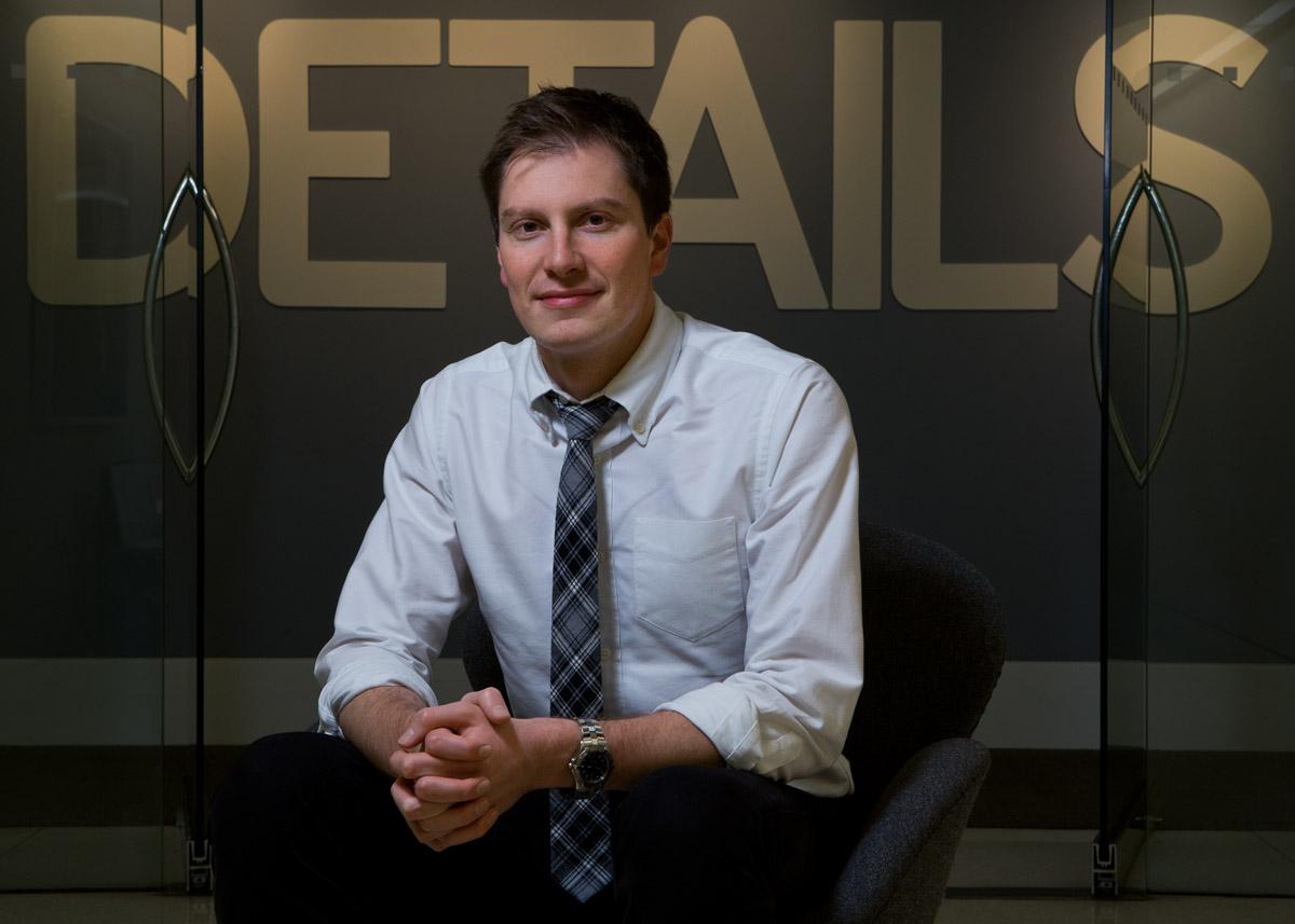 Matt Palmaccio at Details Magazine for Ithaca College