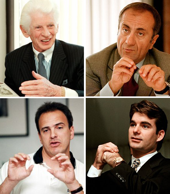 Clockwise from top left:  Herbert Haft of Crown Books; Jacques Nasser, CEO of Ford Motor Company; Jeff Gordon, NASCAR driver; Stratton Sclavos, President and CEO of VeriSign.