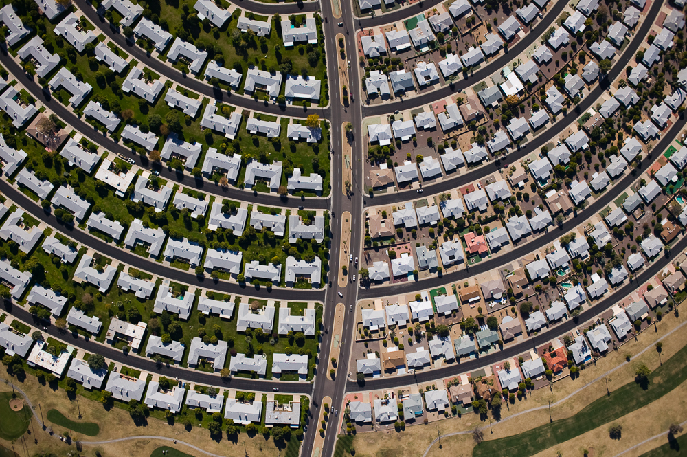 Subdivision Divided in Two, Sun City, Arizona 2004 (041215-0239)