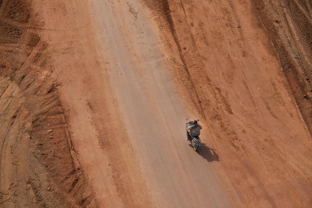 Motorcycle Rider Benin, Africa 2007Digital Capture, File Ref. 071017-0779