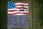 Flag Playground and Basketball CourtStow, MA 2013Digital Capture, Ref #: 130704-0093