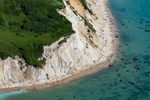 Eroding Clay Cliffs Undercut Topside Vegetation, Aquinnah, MA 2013 (130717-0075)