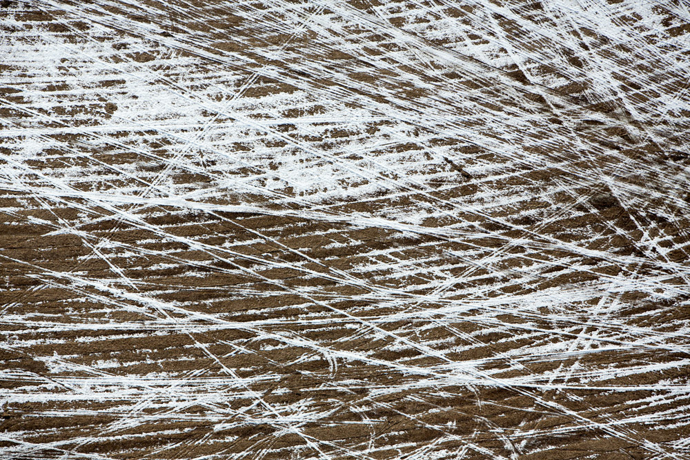 Criss-crossing Field Tracks, Alberta, Canada 2014 (140404-0464)