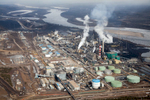Suncor upgrading facility on the banks of the Athabasca River