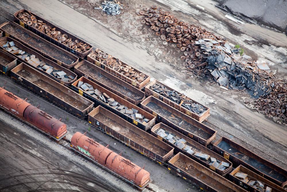 Scrap Steel, East Chicago, Illinois 2014 (140822-0307)