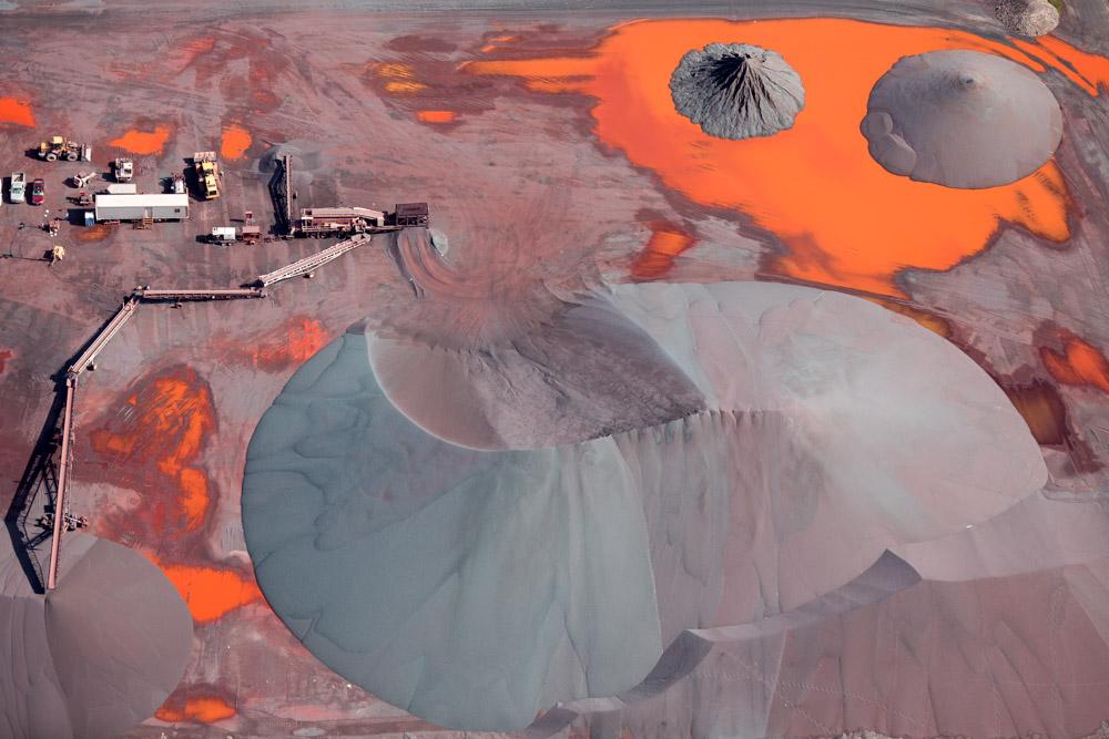 Iron Ore Piles, Duluth, Minnesota 2014 (140826-0243)