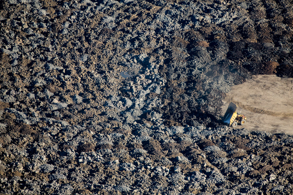 Dumping of Earth, CNRL Horizon Oil Sands, Alberta, Canada 2014 (140915-0458)Featured in the November 2014 issue of Landscape Architecture Magazine