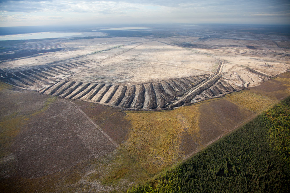 Stages of Forest Clearing, Suncor Mine, Alberta, Canada 2014 (140915-0659)Featured in the November 2014 issue of Landscape Architecture Magazine