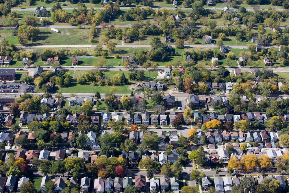Alter Road, Grosse Point and Detroit Divide, Michigan 2014 (141006-0569)Published as part of an essay in the New York Times Sunday Review, December 7, 2014