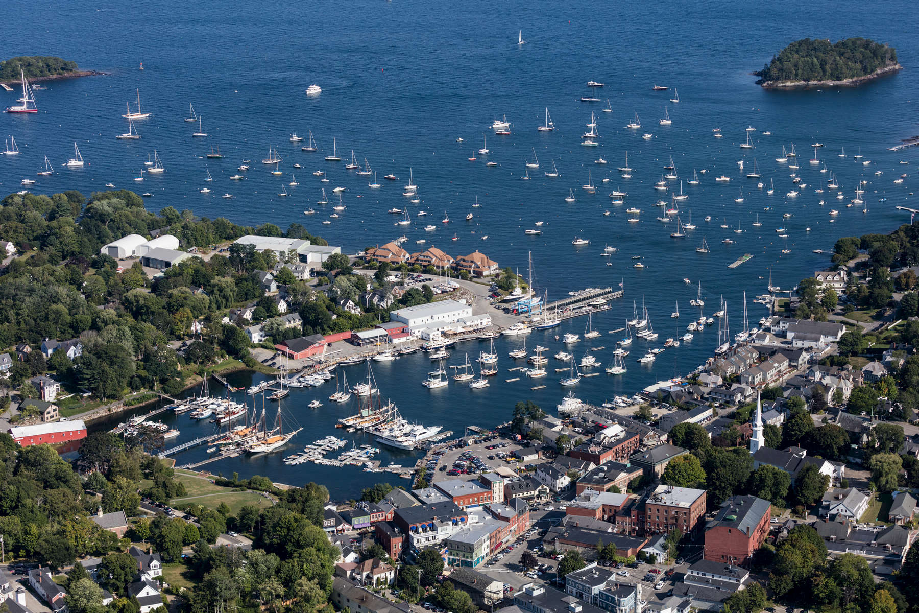 Protected Harbor and Waterfront, Camden, Maine 2018 (180902-0144)