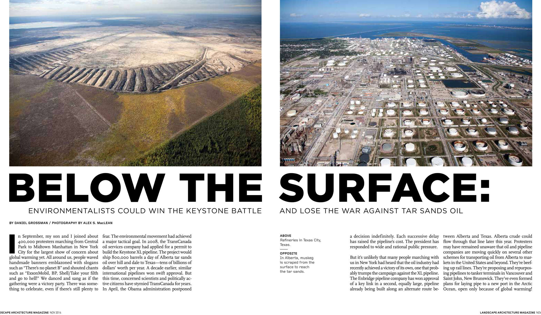 <b>Landscape Architecture Magazine</b>Below The Surface<i><u>November 2014</u></i></a>