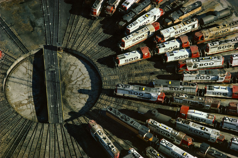 Railroad Turntable, Minneapolis, Minnesota, 1985 (LS_2208_21)
