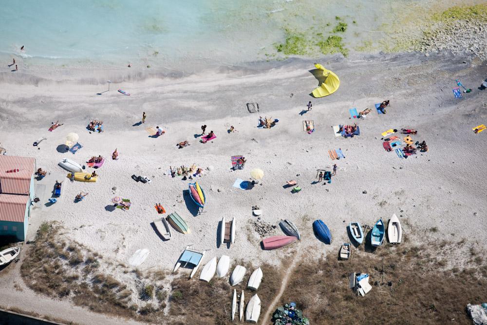 Sunbathers Below Via del Littorale, Livorno, Italy 2007 (070801-0390)