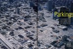 Downtown parking lots illustrate the grid layout similar to many growing American citiesHouston, Texas