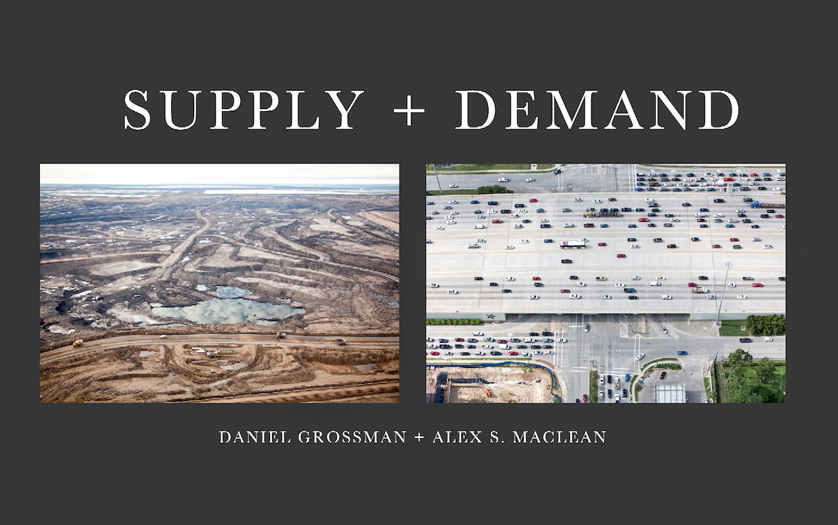 In 2014, Alex MacLean and Daniel Grossman flew over oil production centers in the US and Canada. They circled over tar sands deposits of northern Alberta, refineries along the Texas Gulf Coast, and the pipelines and tank farms linking them. What they saw from above was an integrated, continent-spanning system that powers our lives and threatens our climate. See for yourself what they discovered in Supply + Demand.To purchase the book, click here.To view the images in the book, click here.