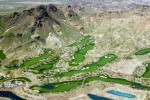 Boulder City, NVGolf courses in the Las Vegas metropolitan area account for 5 percent of the region's water usage. Pictured is a section of the 71-hole Cascata Golf Course, which has managed to conserve 60 million gallons of water per year by increasing the aeration of the turf areas and replacing rye with Bermuda grass (which requires less water) in some turf areas.Ref #: 050309-0288
