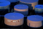 {quote}Don't Waste It{quote} Painted on the Side of a Petroleum Storage TankNew Haven, ConnecticutFilm, Ref #: LS_6249_22