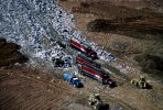 Trucks Emptying Waste Into LandfillWashington D.C. AreaRef #: LS_4336_10
