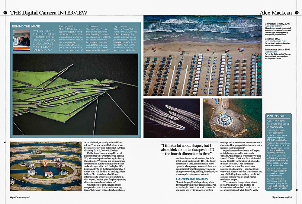 The Digital Camera MagazineAlex MacLean Interview, pages 88-94. Issue #138, May 2013
