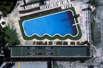 Shuffleboard Court and Pool Edged in Artificial TurfMiami Beach, FloridaFilm, Ref #: LS_2268_12