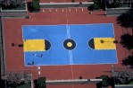 Blue Basketball Court with Colored ZonesAtlantic City, New Jersey Film, Ref #: LS_7309_19