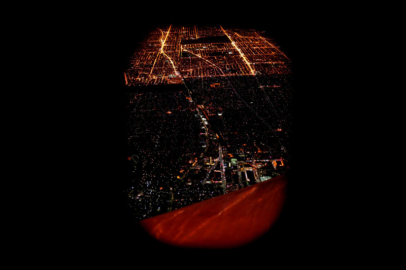 airplane window, electricity, light pollution, street lights, night, dark, aerial