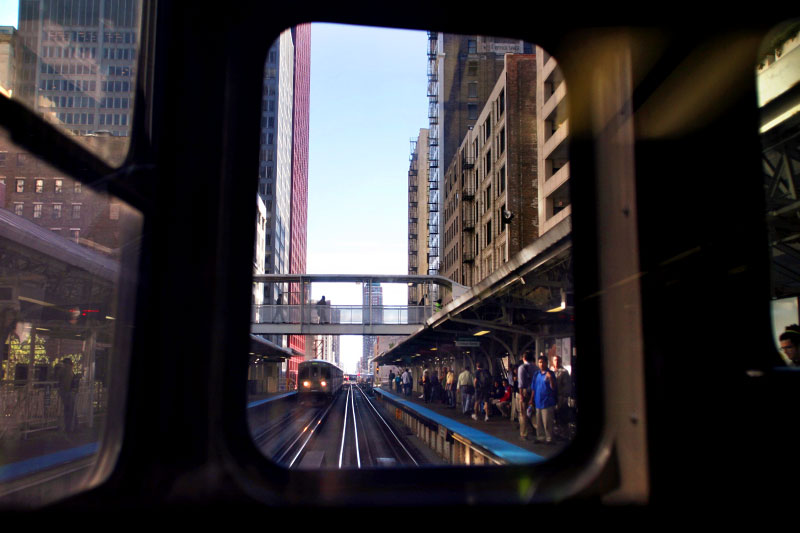 A ride on the Chicago Transit Authority elevated trains around the loop is an inexpensive way to see the architecture of downtown Chicago.